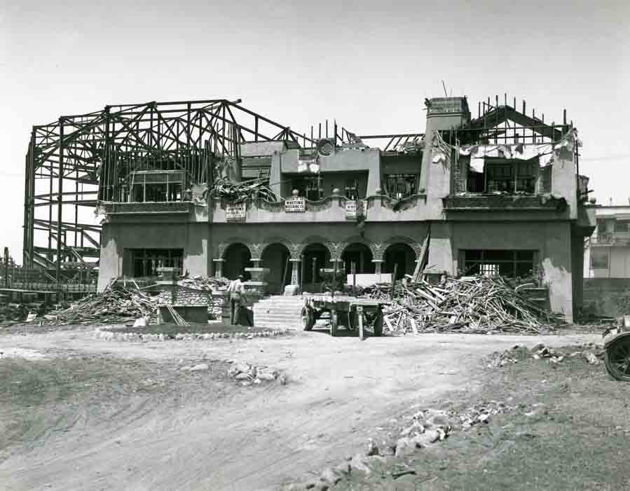 demolition of Paul DeLongpre's house