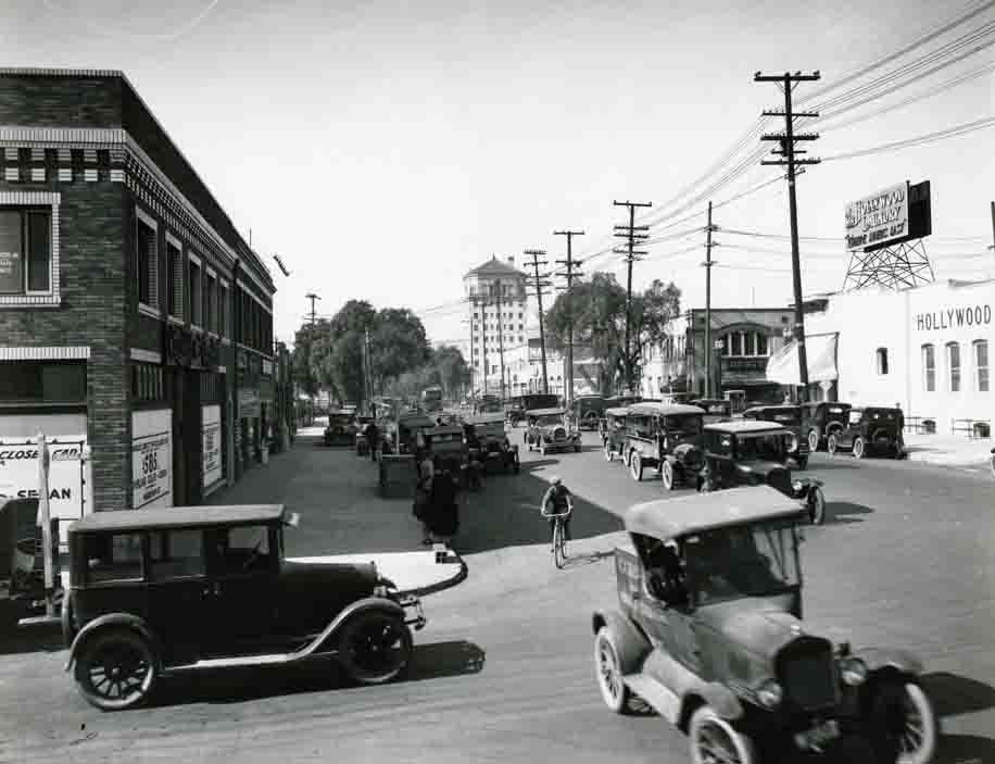Vintage photograph of Sunset Boulevard