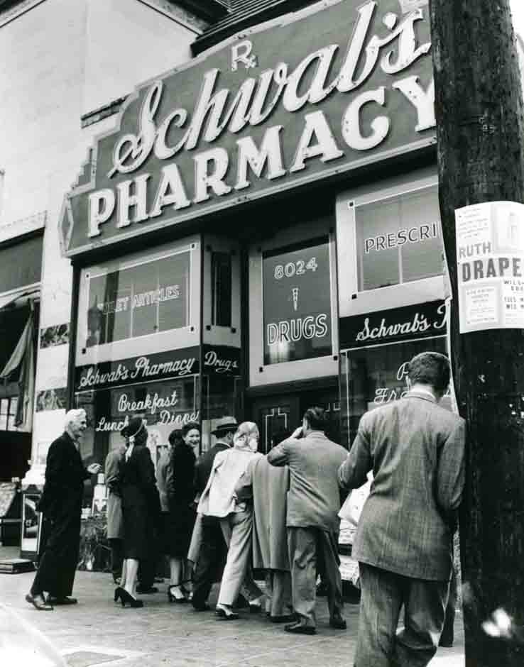 Vintage photographs of Schwab's Pharmacy