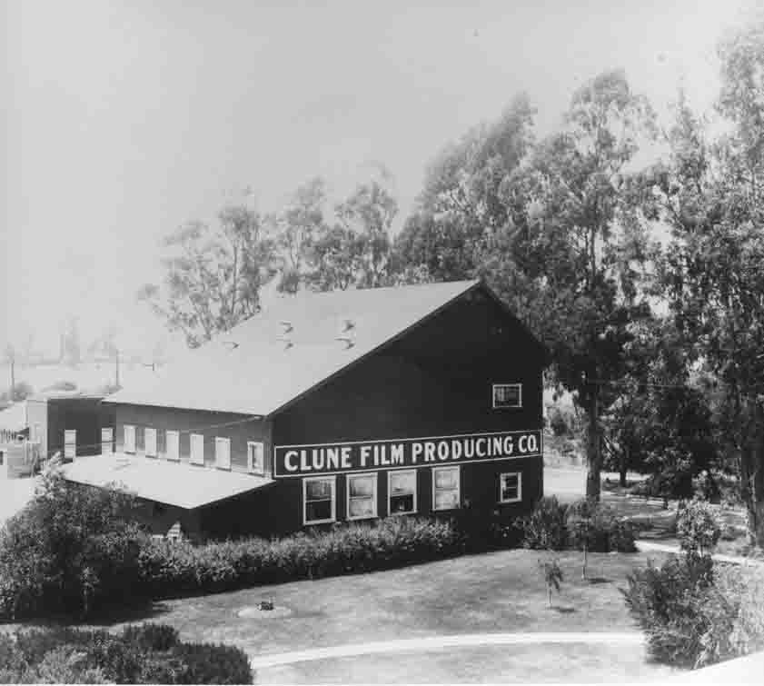 Vintage photo of of Clune Hollywood Studio