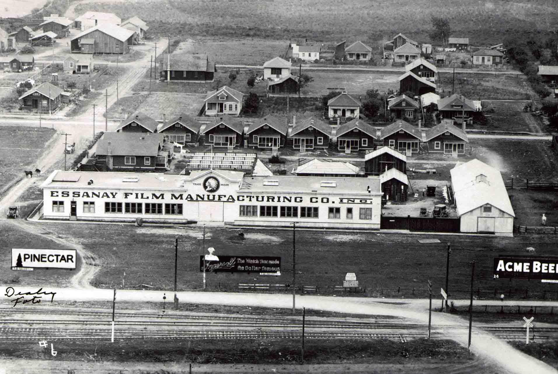 Vintage photo of early Movie Studios