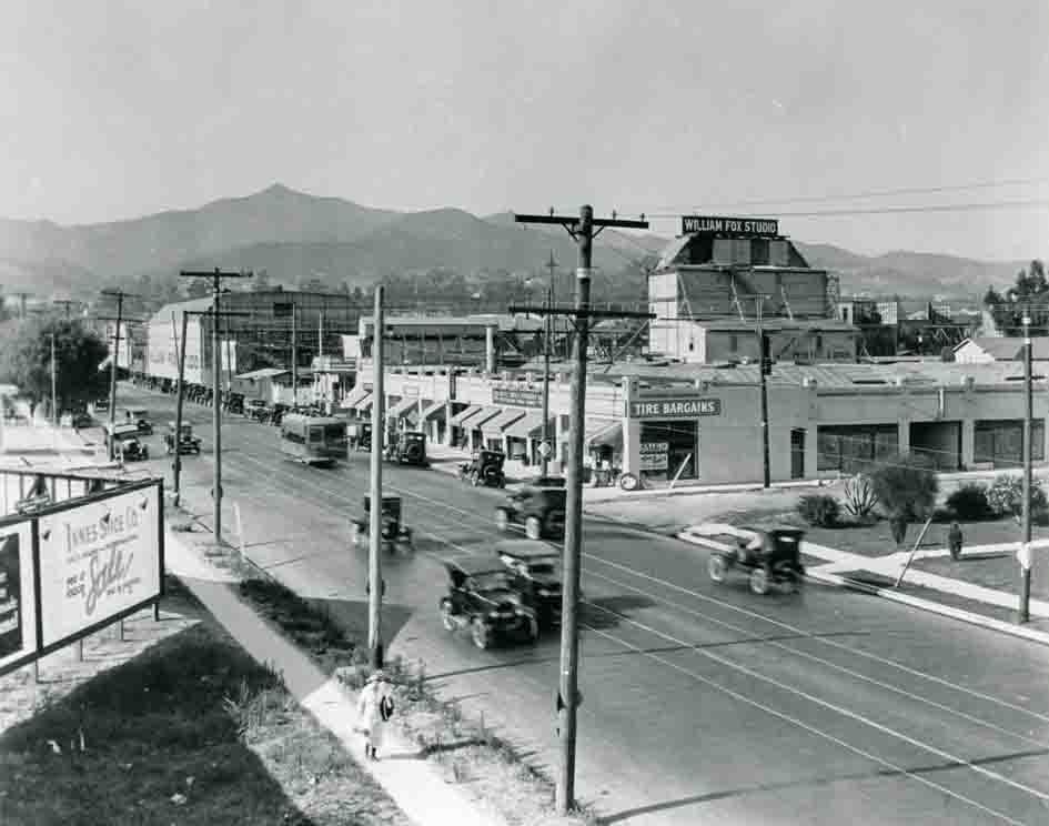 Vintage photo of the William Fox movie studios