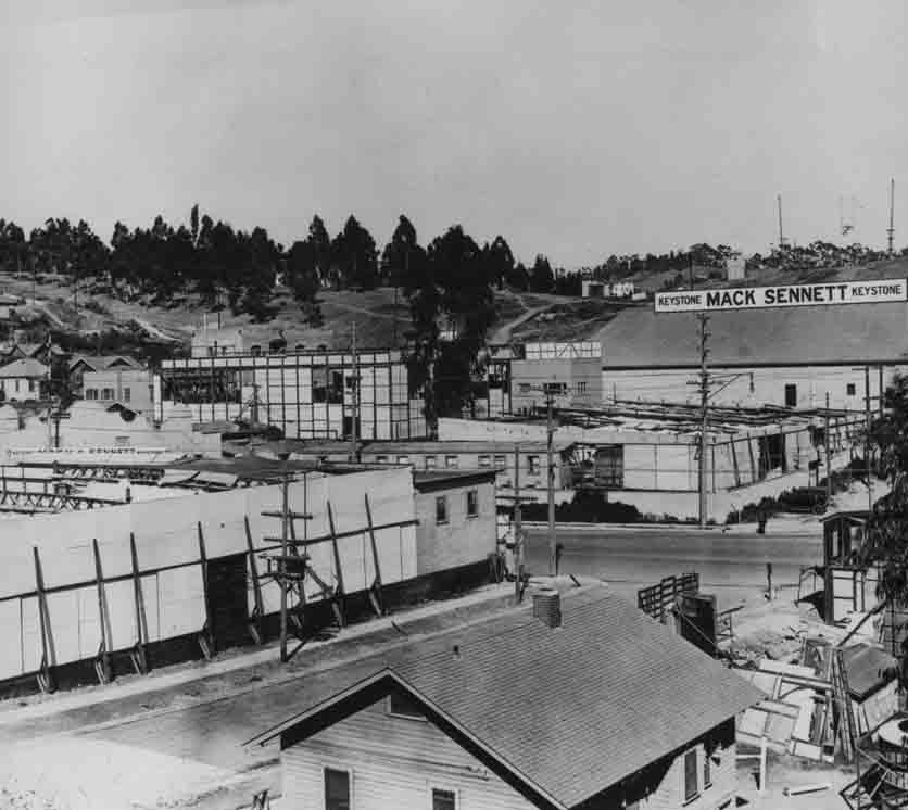 Historic photo of Mack Sennett's studio