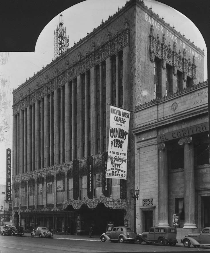 Vintage photo of the El Capitan Theater