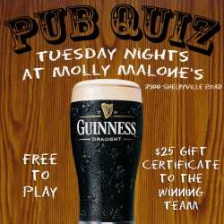 Trivia Night at Molly Malones