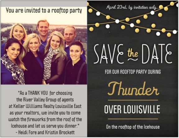Thunder Over Louisville 2016 River Valley Group party with Heidi Fore and Kristin Brockett and team