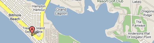 Treasure Island Condominiums location map