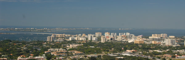 Aerial of downtown Sarasota, Florida