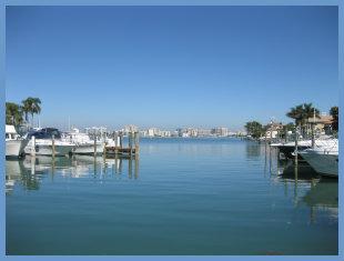 Downtown Sarasota view from Bird Key Yacht Club