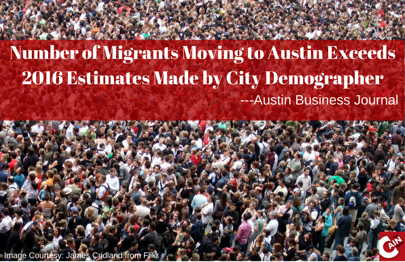 Migrants who moved to Austin in 2016 exceeded estimates made by city demographer ABJ