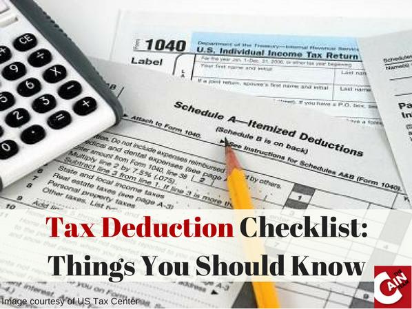 Tax Deduction Checklist