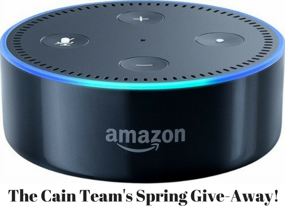 The Cain Team is giving away Amazon Echo Dots! Find out how to get one, free!