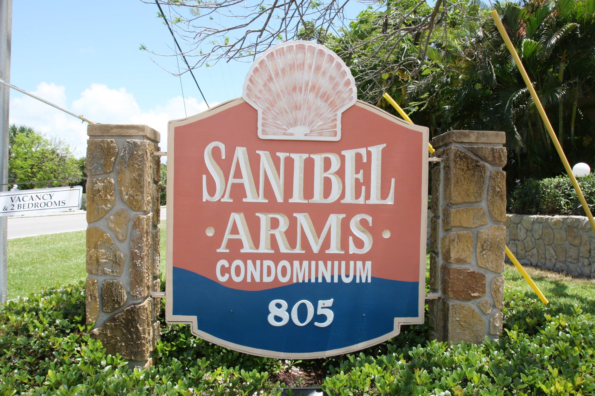 Sanibel Arms Sign