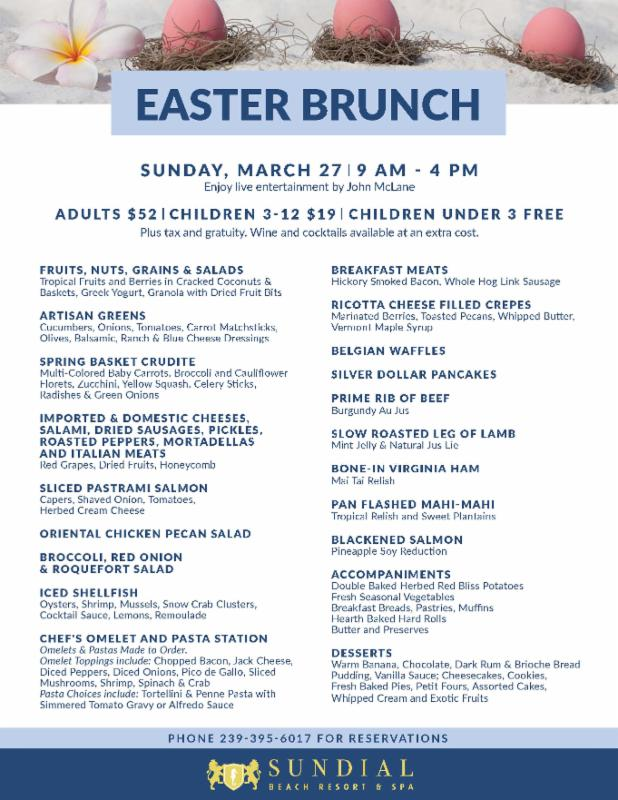Sundial Easter Brunch