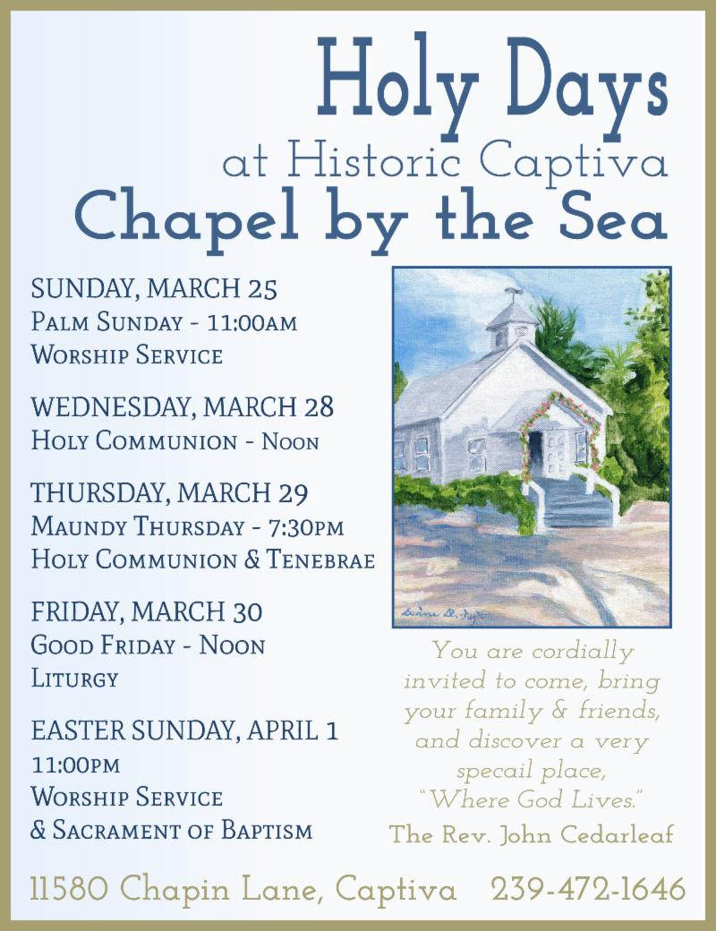 Chapel by the Sea Easter