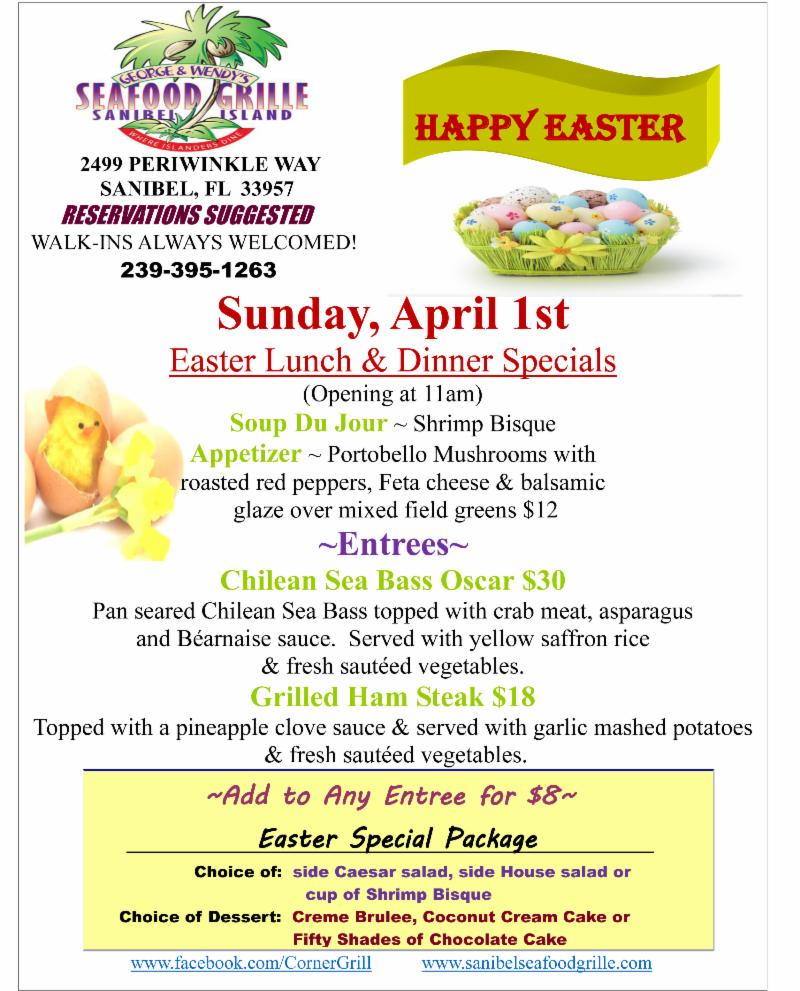 Seafood Grille Easter