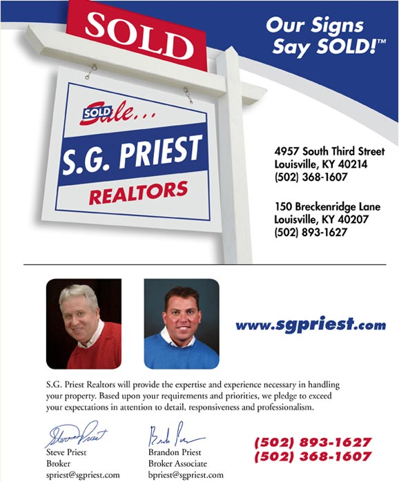 SG Priest Our Signs Say Sold!