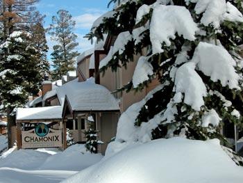 CHAMONIX CONDOS COMPLEX IN WINTER SNOW