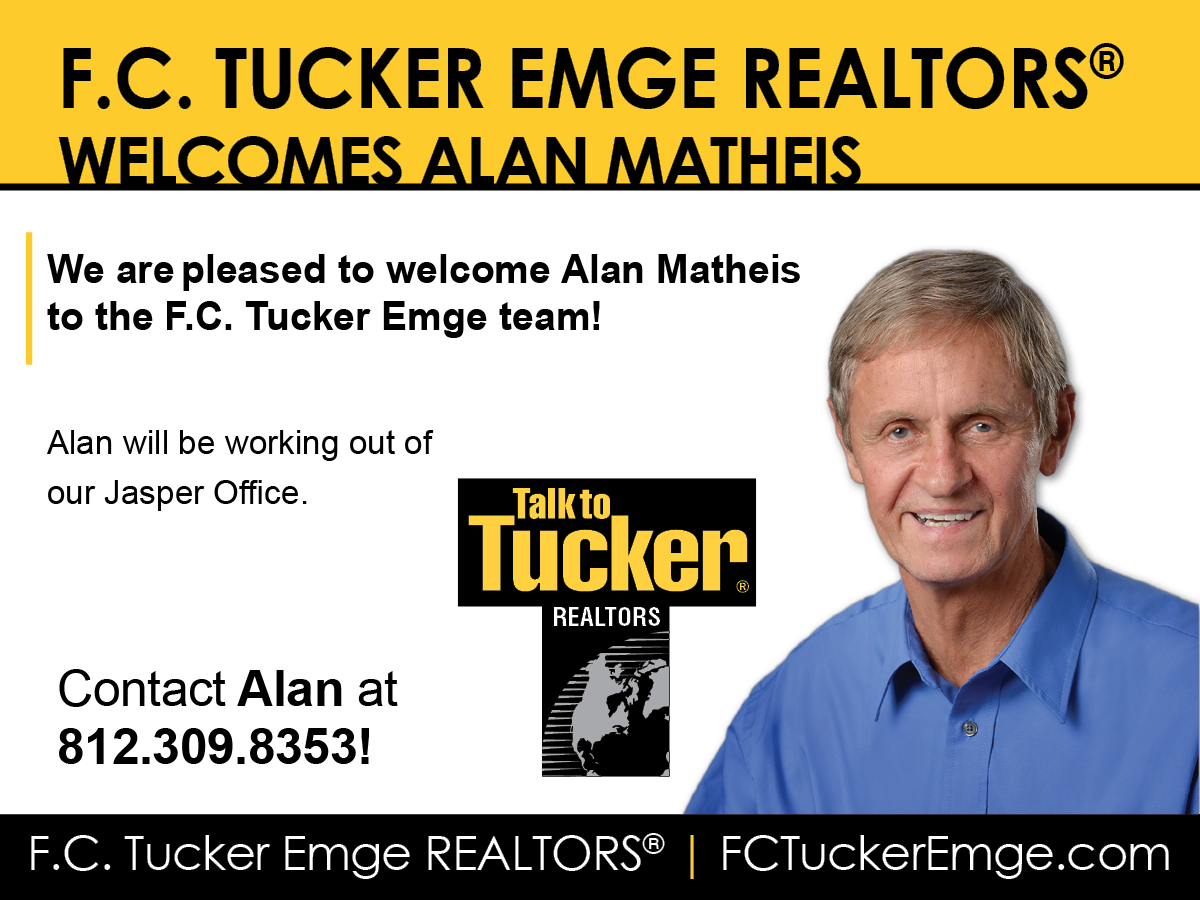 PLEASE WELCOME ALAN MATHEIS TO THE F.C. TUCKER EMGE TEAM!