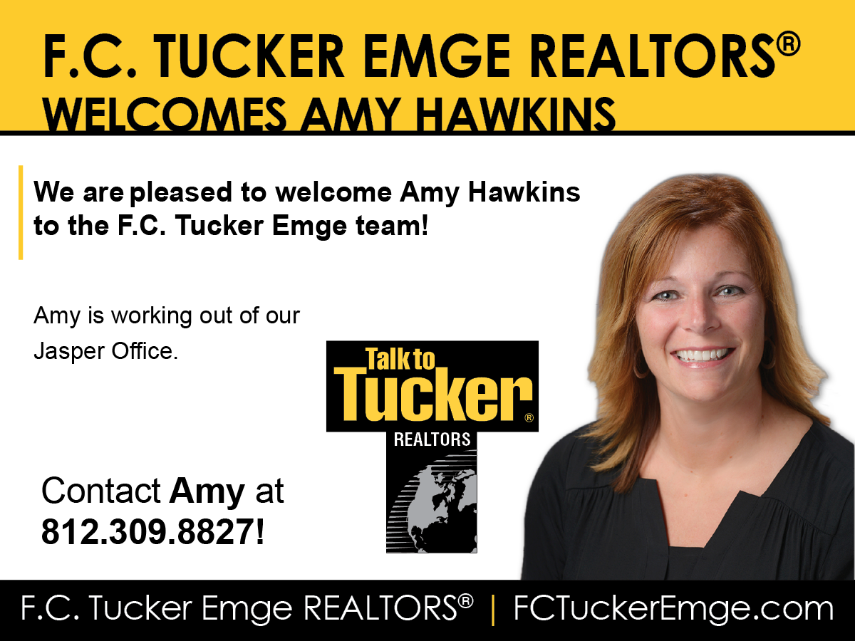 PLEASE WELCOME AMY HAWKINS TO THE F.C. TUCKER EMGE TEAM!