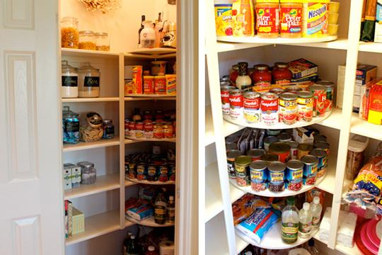 Lazy Susan Pantry Makeover