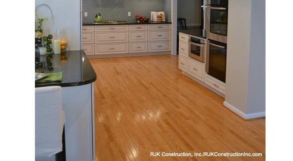 Wood floor in a classic kitchen