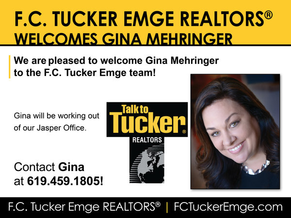 Please Welcome Gina Mehringer to the F.C. Tucker Emge Team!