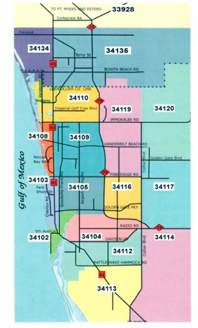 naples florida map with zip codes