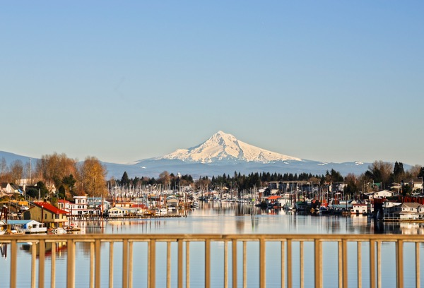 Vancouver View of Mt Hood