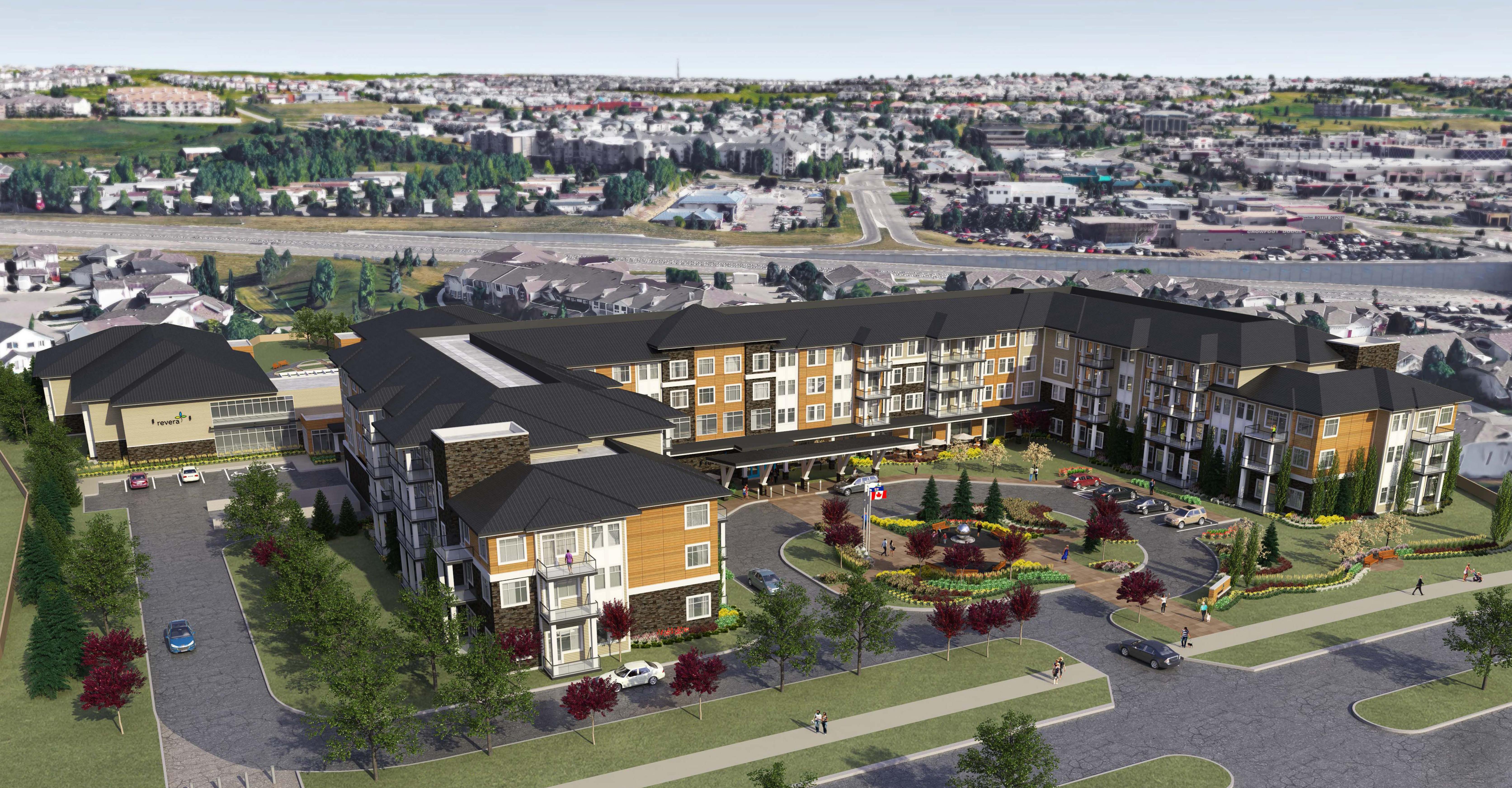 3D Rendering Planned Senior's Complex