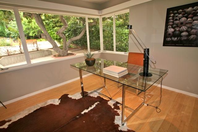 4525 Cockerham Dr. - Los Feliz Mid-Century home bedroom overlooks nicely manicured yard
