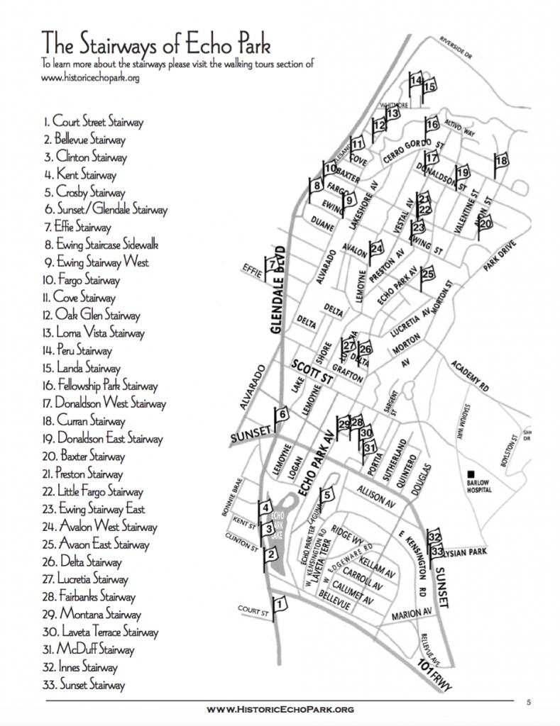 map of Secret stairs in Echo Park