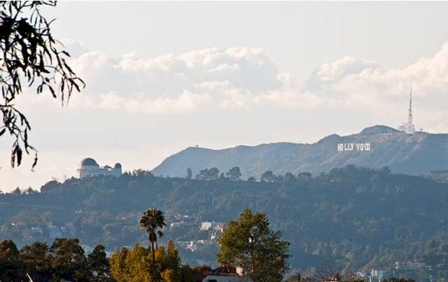 Echo Park home in the hills has views of the Hollywood Sign