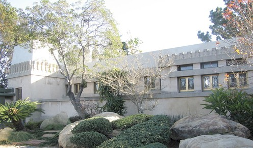 Frank Lloyd Wright's Hollyhock House - Barnsdall Park in Hollywood California