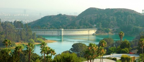 The majestic Lake Hollywood Reservoir near Hollywood Dell