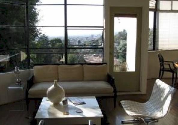 Living room of the  Adams house -3217 Fernwood Ave Silver lake streamline moderne
