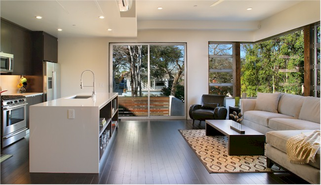 Modern finishes and clean lines make these Sunset Junction homes attractive