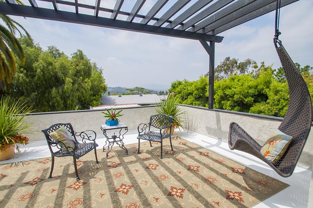 Montecito Heights Master Bedroom with deck