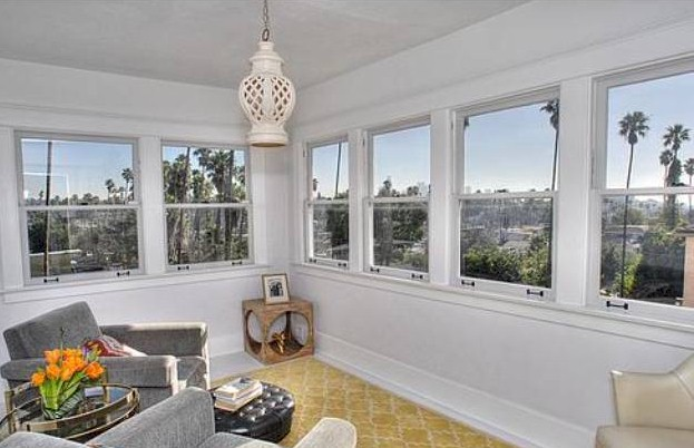 silver lake craftsman sunroom with downtown views