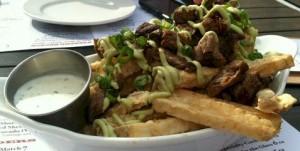 carne asada fries at HPK in Highland Park