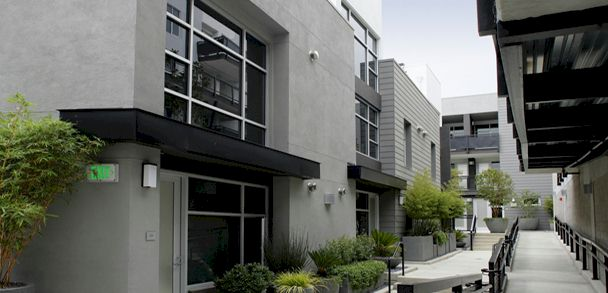 Sunset Silver Lake Lofts  architectural design and walls of glass