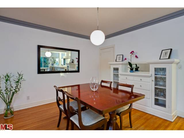 Dining room of Silver Lake Duplex has original built-ins
