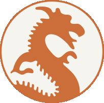 Silver Lake Ivanhoe Elementary School dragon logo