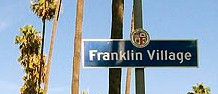 franklin village includes a stirp of shops and restuarants ath the base of Beachwood Canyon