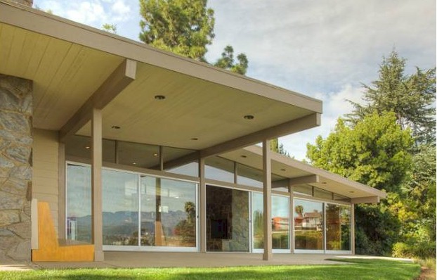 Los Feliz post and  beam mid century modern