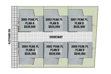 peak place small lot homes in Glassell park offer 3 plans from 625K