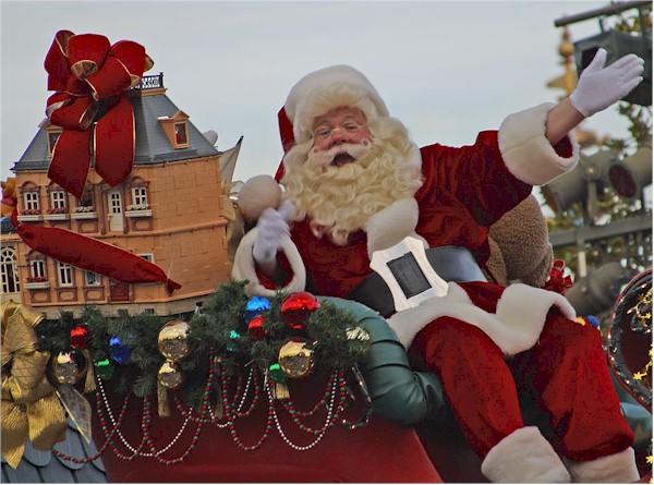 Santa bringing you a house for Christmas