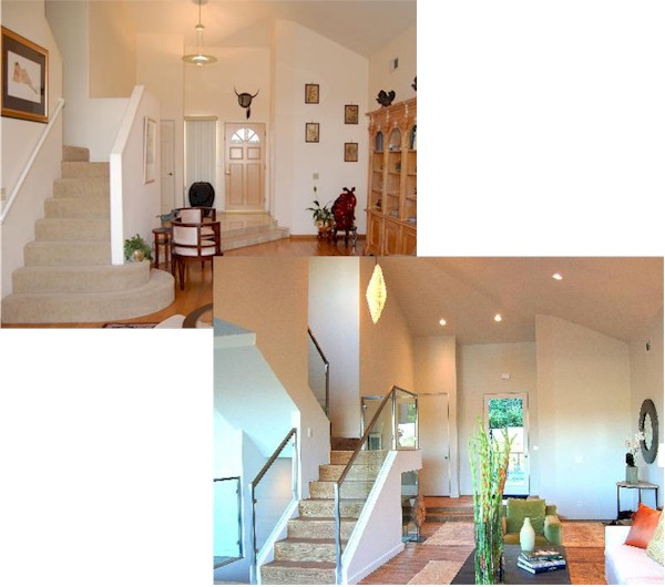 2265 Moreno Dr., Silver Lake stairway before and after