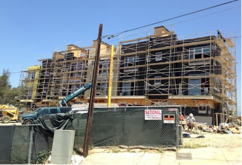 Latitude- Silver Lake townhomes during construction