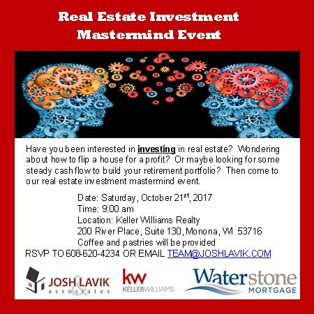 real estate investment event madison wisconsin